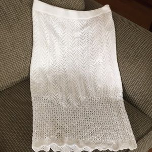 Top shop white knitted skirt